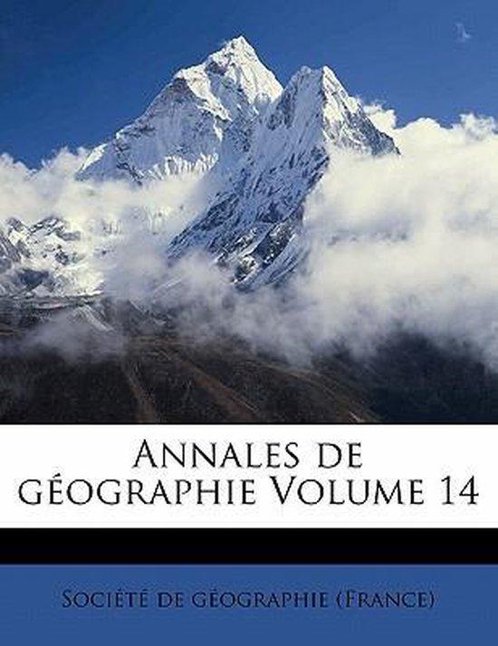 Annales de Geographie Volume 14