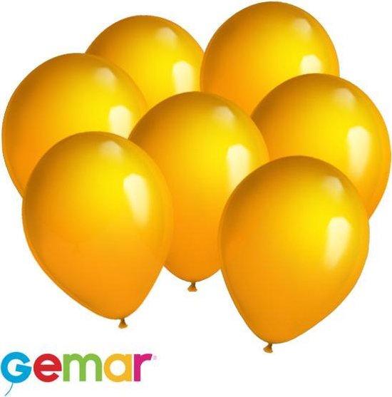 30x ballonnen Halloween Oranje (Ook geschikt voor Helium)