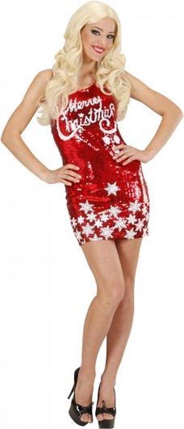 Pailletten jurkje Merry Christmas M
