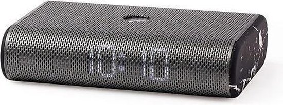 LEXON Miami Time - stereo LED wekkerradio - zwart