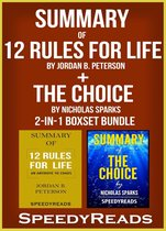 Omslag Summary of 12 Rules for Life: An Antidote to Chaos by Jordan B. Peterson + Summary of The Choice by Nicholas Sparks 2-in-1 Boxset Bundle