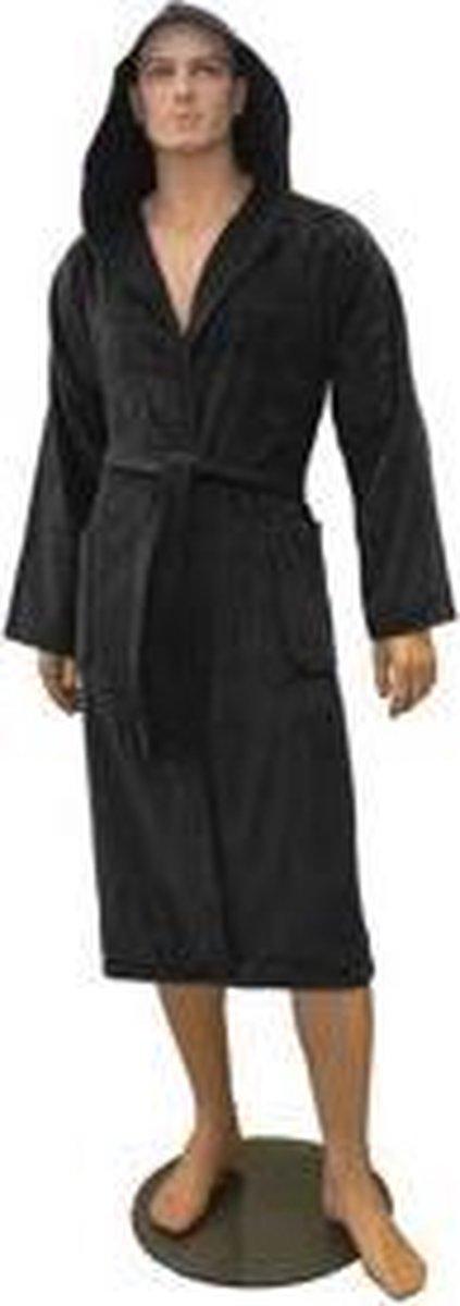 Badjas met Capuchon in de kleur zwart - J-J Products
