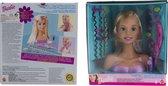 Barbie kaphoofd met alle toebehoren- schminken en kammen