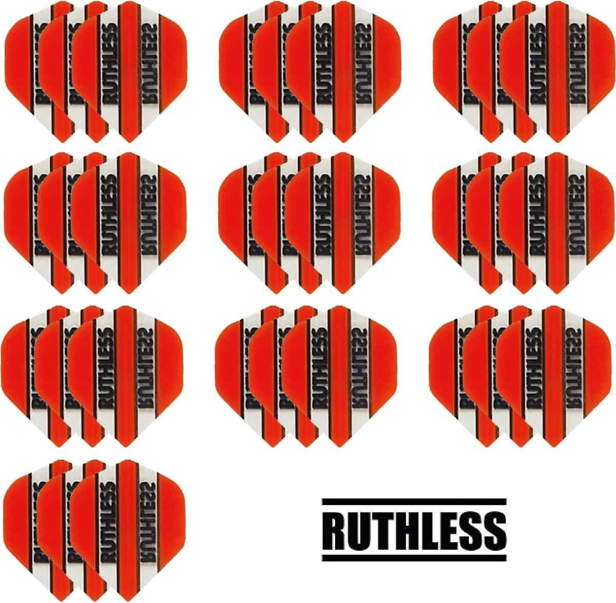 Dragon darts - 10 Sets (30 stuks) - Ruthless - sterke flights - Oranje - darts flights