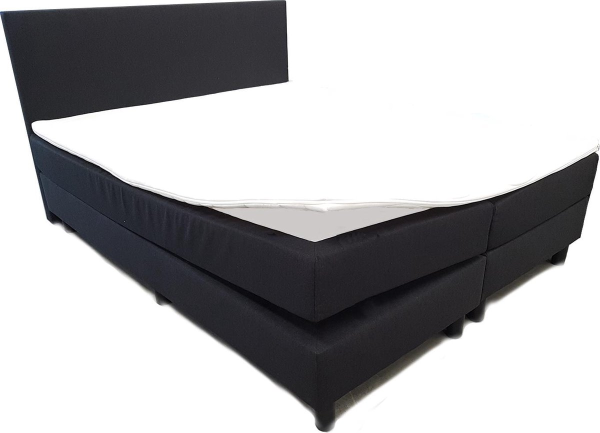 Boxspring Excellent - complete boxspringset - 180x200 - Zwart - ACTIE! - Bed4less