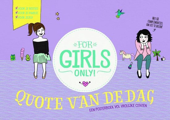 For Girls Only! - Quote van de dag - none | Readingchampions.org.uk