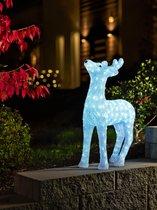 Konstsmide 6121 - Verlicht kerstfiguur - 176 lamps LED acryl rendier - 60 cm - 24V - voor buiten - koelwit