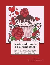 Hearts and Flowers 2 Coloring Book