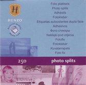 Fotoplakkers - Henzo - Plakstrips - 250 stuks - Wit