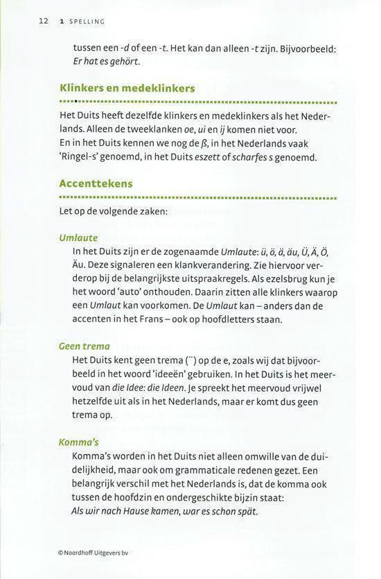 Noordhoff Duits in je pocket - Paul Goossen