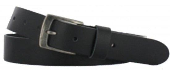 Leren riem zwart soepel leer 3,5 cm breed maat 115