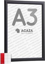 Acaza Kliklijst - A3 Formaat - Aluminium - Zwart - Inclusief beschermfolie