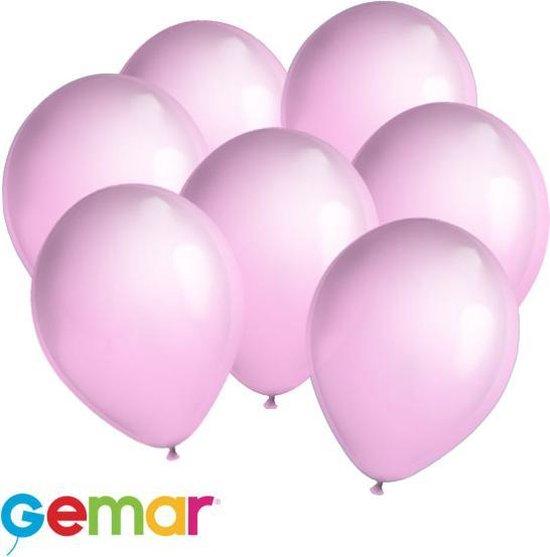 30 ballonnen licht Roze (Ook geschikt voor Helium)