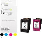 Improducts® Inkt cartridges - Alternatief HP 301 /