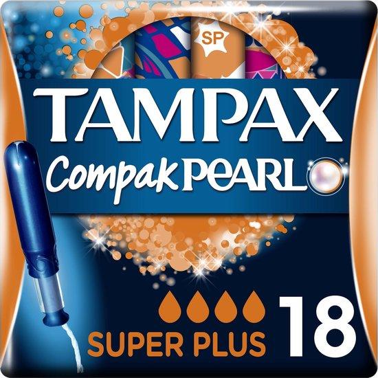 Tampax Compak Pearl Super Plus Tampons - 18 Stuks - Met Inbrenghuls
