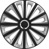Versaco Wieldoppen Trend RC Black&Silver 14 inch - Set van 4