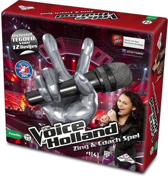 The Voice of Holland Zing & Coach Spel - Gezelschapsspel - Karaoke set met microfoon