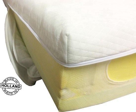 Slaaploods.nl Matrashoes Met Rits - Comfort - Anti Allergie - 90x190 cm - Hoogte 14 cm