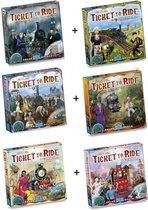 Ticket to Ride - Ultieme Uitbreidingsset - Map Collection 6 stuks