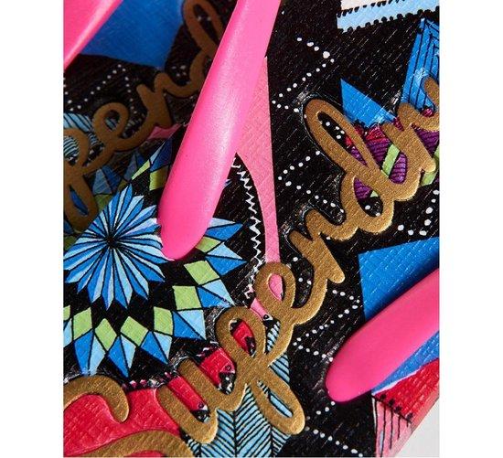 Superdry Super Sleek Slippers - Maat 36/37 - Vrouwen - roze/blauw/wit ZHnsBlPT