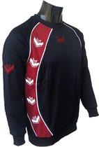 KWD Sweater Pronto - Zwart/rood - Maat XL