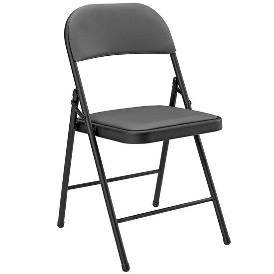 pro.tec]® Bureaustoel klapstoel 6 stuks set grijs