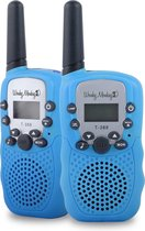 Wonky Monkey - Walkie Talkie - 3 km bereik - 10 oproeptonen - Volume regelaar - Lamp - Batterij niveau indicatie – Blauw