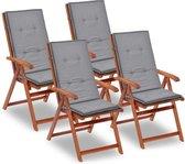 Tuinstoelen Antraciet 4 STUKS / Tuin stoelen / Buiten stoelen / Balkon stoelen / Relax stoelen
