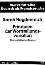 Prinzipien Der Wortstellungsvariation