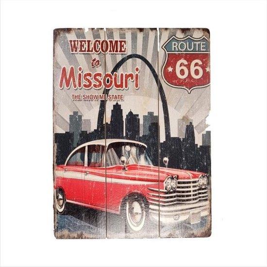 Bol Com Retro Houten Decoratie Plaat 30 40cm Missouri