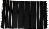 Hoi An tapijt L zwart/wit