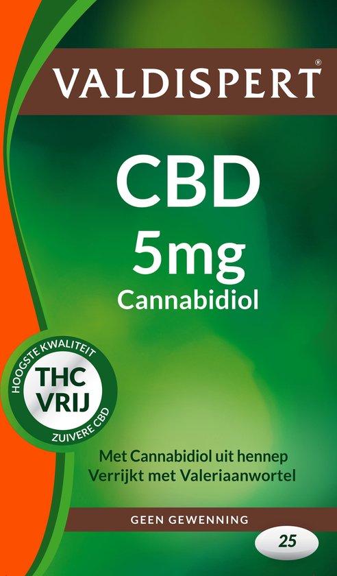 Valdispert CBD 5mg Cannabidiol Voedingsupplementen - 25 Tabletten