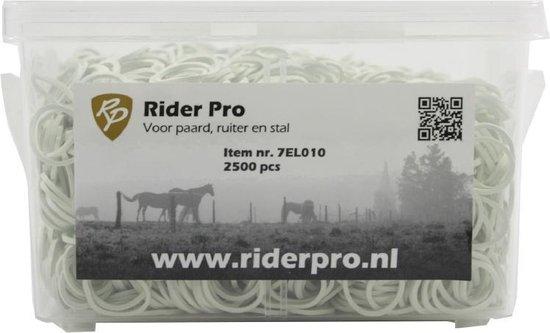 Elastiekjes Rider Pro 2500 stuks - Wit, 1 maat