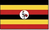 Vlag Oeganda 90 x 150 cm feestartikelen - Oeganda landen thema supporter/fan decoratie artikelen