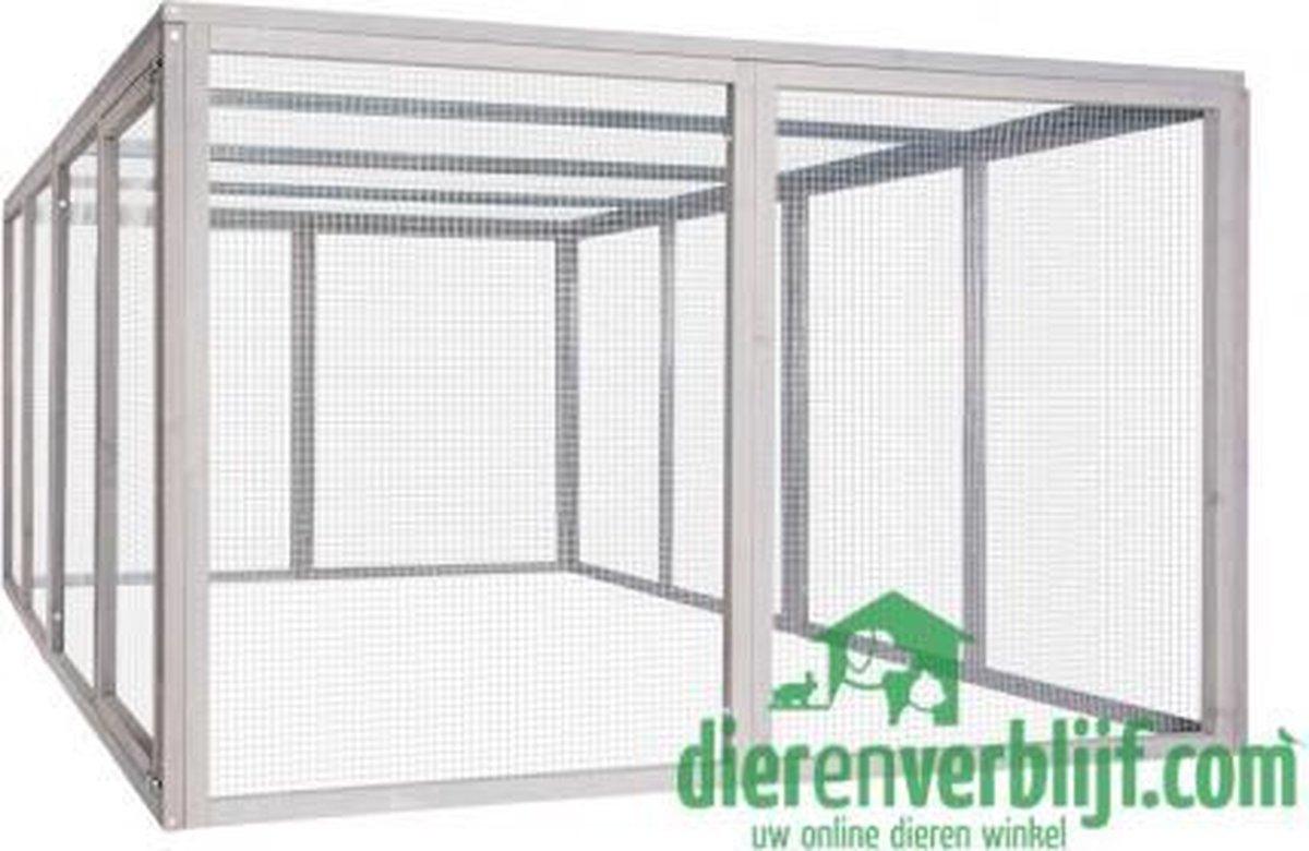 Ren ZH10 - Dierenren - Grijs - 200 x 160 x 99 cm