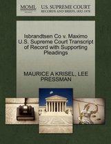 Isbrandtsen Co V. Maximo U.S. Supreme Court Transcript of Record with Supporting Pleadings