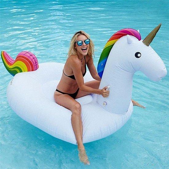 Gigantische XXXL Opblaasbare Unicorn-275cm- wit | Mega Unicorn Opblaasbaar | Zwembad Speelgoed | opblaas dieren - Inflatables