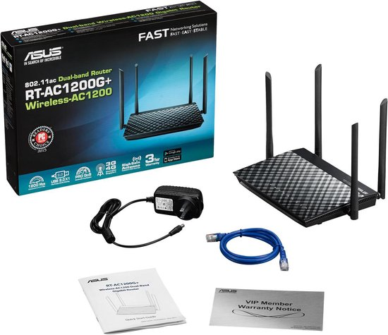 ASUS RT-AC1200G Plus - Router - 1200 Mbps - ASUS