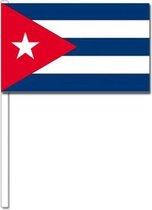 10 zwaaivlaggetjes Cuba 12 x 24 cm