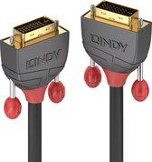 Lindy DVI-D Dual Link Kabel Anthra Line 15m