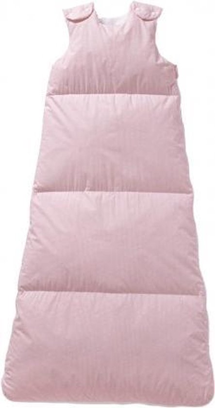 Nicolientje Winterslaapzak dons vichy ruitje roze 110 cm