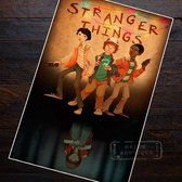 Stranger Things | Classic Vintage Art Poster | Real Kraft Paper |