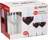 Alpina Rode Wijnglazen - 530 ml - 6 stuks