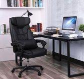 Luxe bureaustoel met opklapbare hoofdsteun   Extra groot   Comfortabel   Directiestoel   Ergonomisch   Zwart