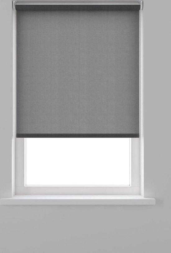 Decosol rolgordijn lichtdoorlatend - 180x190 cm - antraciet