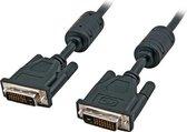 EFB DVI-D Dual Link,2x DVI-D 24+1,St.-St.,AWG 24,15,0m,zwart