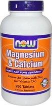 Magnesium & Calcium (2:1) met Zink en Vitamine D (250 tabletten) - Now Foods