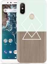 Xiaomi Mi A2 Hoesje Wood Simplicity
