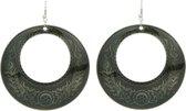 oorhangers met cirkelvormige hanger in vintage design