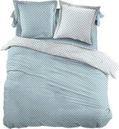 Snoozing Pierrot - Dekbedovertrek - Eenpersoons - 140x200/220 cm + 1 kussensloop 60x70 cm - Blue